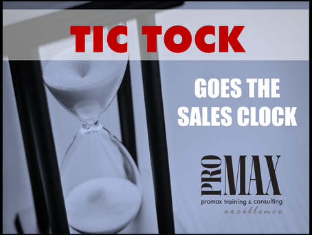 Tic Tock Goes the Sales Clock