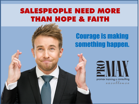 Salespeople - Give Hope a Chance