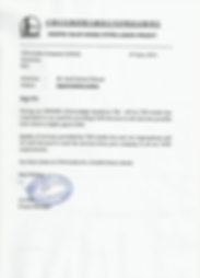 TCR Arabia - Appreciation Letter from SINOPEC (Pet