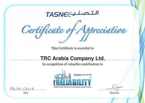 TCR Arabia - TASNEE - Appreciation Letter.png