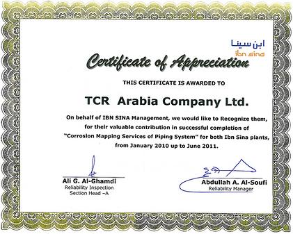 TCR Arabia - SABIC - Ibn-Sina - Corrosion Mapping.