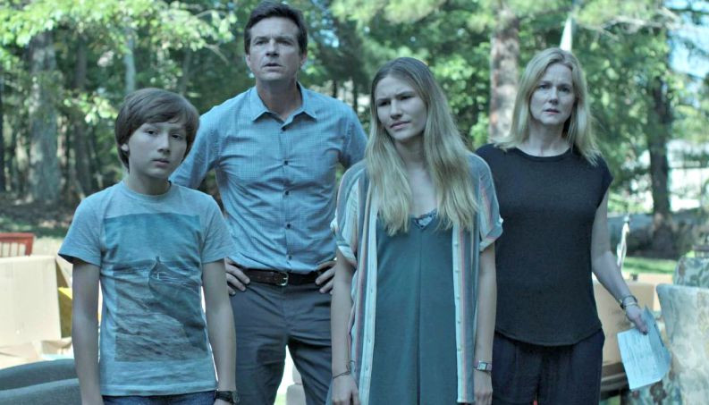 An image of the Byrde family from Ozark.