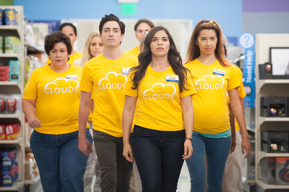 The Cloud 9 crew from the Superstore series
