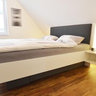 Bett - modern und schlicht