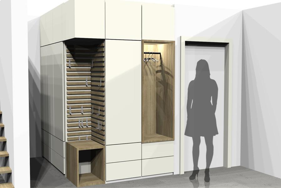 Garderobe im Eingang