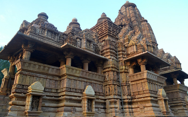 A temple with beautiful carvings.