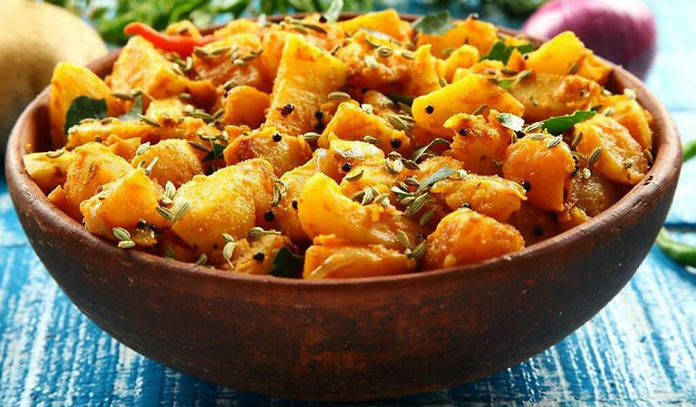 Potato dish with lots of spices