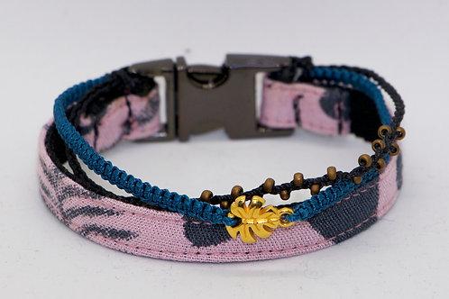 """Multi-Friendship Armband """"Pink Floral"""" für Frauchen"""