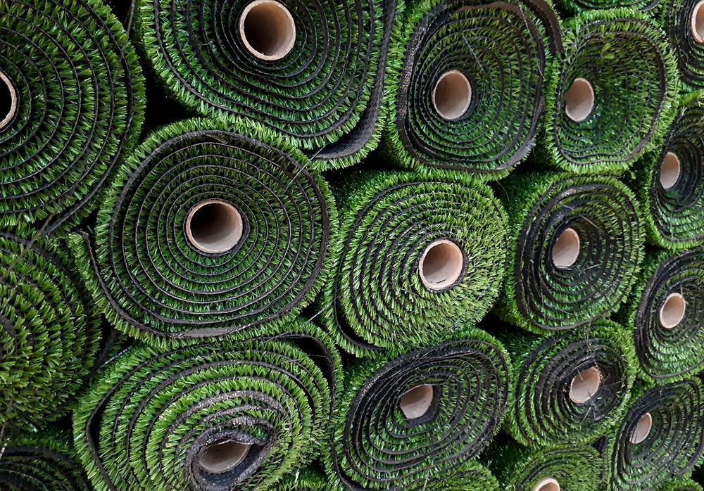 grass cardboard tubes carpet cores