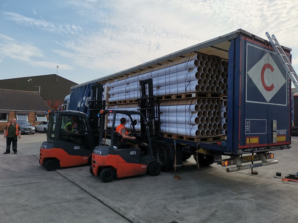 Carpet tubes export UK