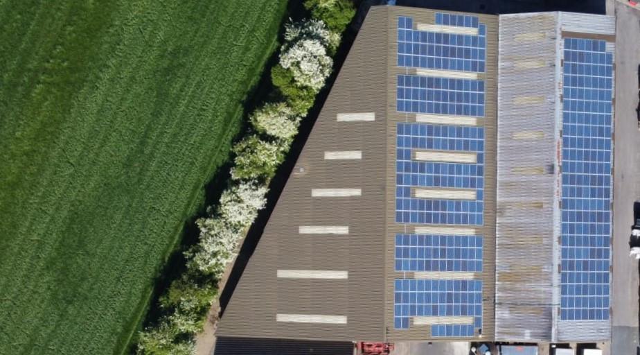 tape cores manufacturer runs off solar renewable