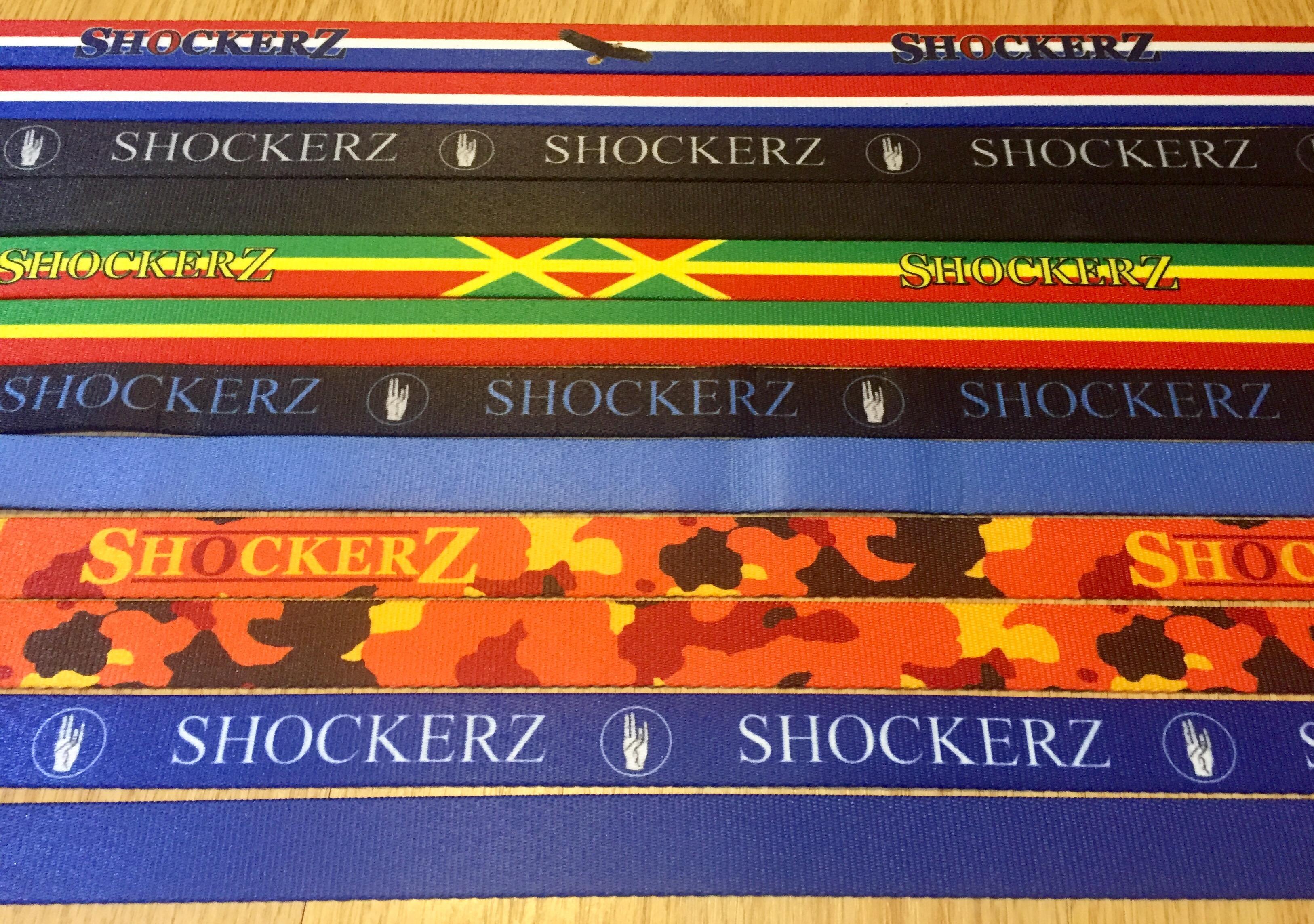 Shockerz branded straps
