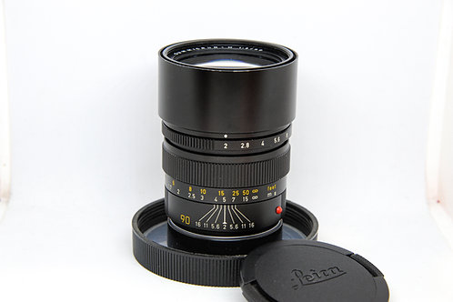 Leica Summicron 90mm f2 Pre-A (Full Packing)