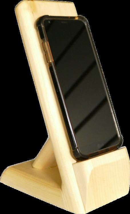 Support à cellulaire en bois de pin massif - Taxes incluses dans le prix