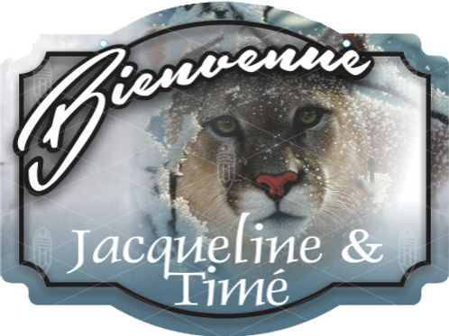 Affiche 18 x 24 Cougar neige 01