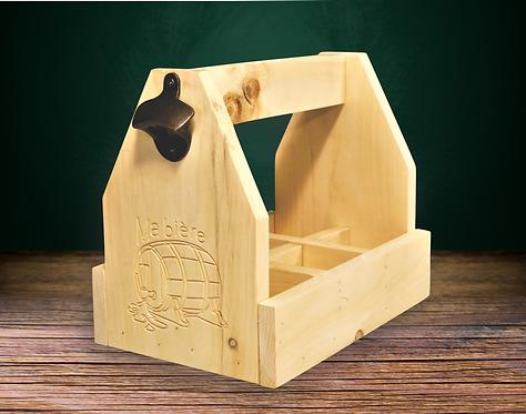 Caisse de bois pour 6 bières - Taxes incluses