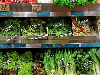 Eat local, buy local, be merry and healthy