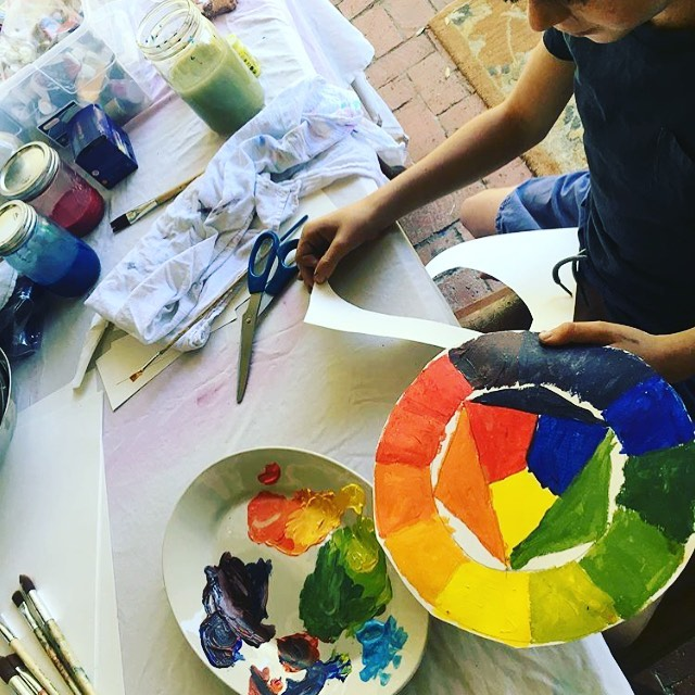 Creating art with kiddos! One of my favo