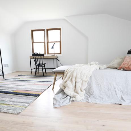 AFTER: Second floor master bedroom