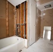 BEFORE: Second floor full bathroom