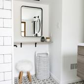 AFTER: Bathroom nook