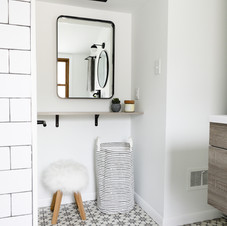 bathroom nook