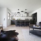 AFTER: Living room/kitchen