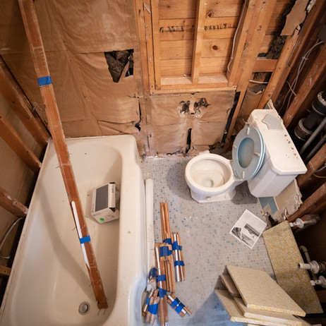 BEFORE: First floor full bathroom