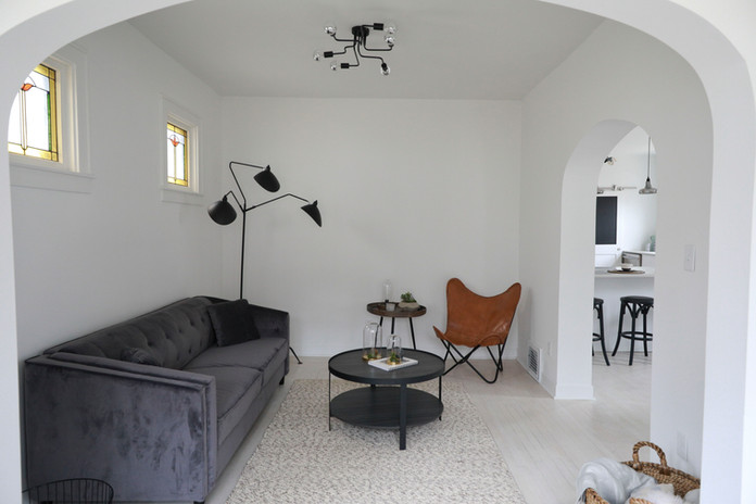 Mood Studio Modern Farmhouse milwaukee wi renovation house flipper contractor living room