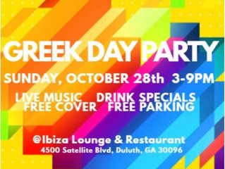 "Go ""fourth"" this Sunday (and other Sundays too):  The Greek Day Party"
