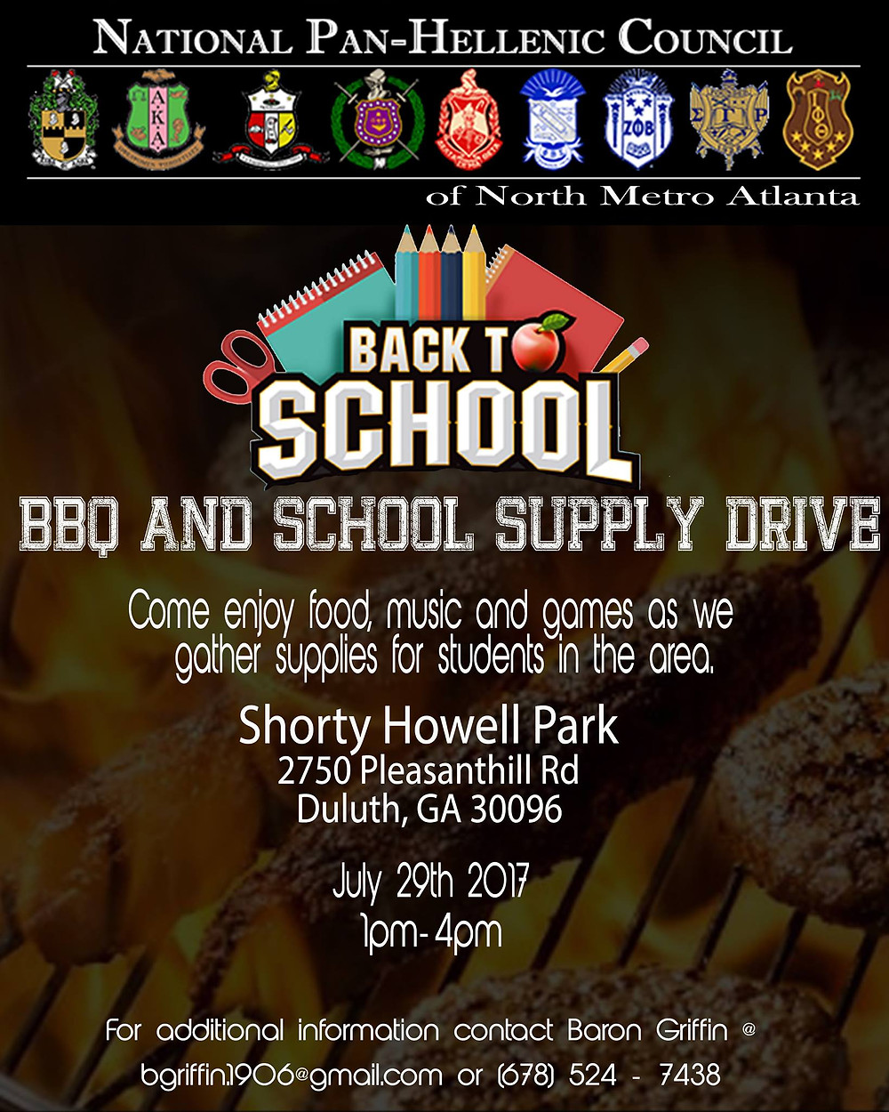 Make plans to donate and attend the school supply drive via the NPHC of North Metro Atlanta!