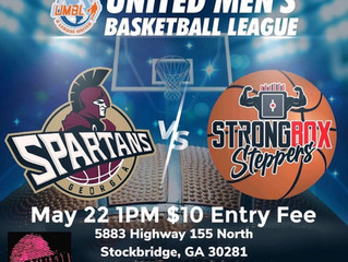 It's the postseason:  the Georgia Spartans vs the Strong Box Steppers in #UMBLHoops semi-pro play