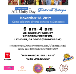 Unity with an international style:  the International Atlanta Unity Day