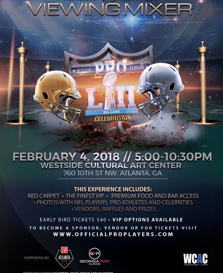This is the viewing event for the big game where former players and others will be!  Likewise, proceeds from the event support community programs, so get your ticket now (at buy one and get a second for half off)!