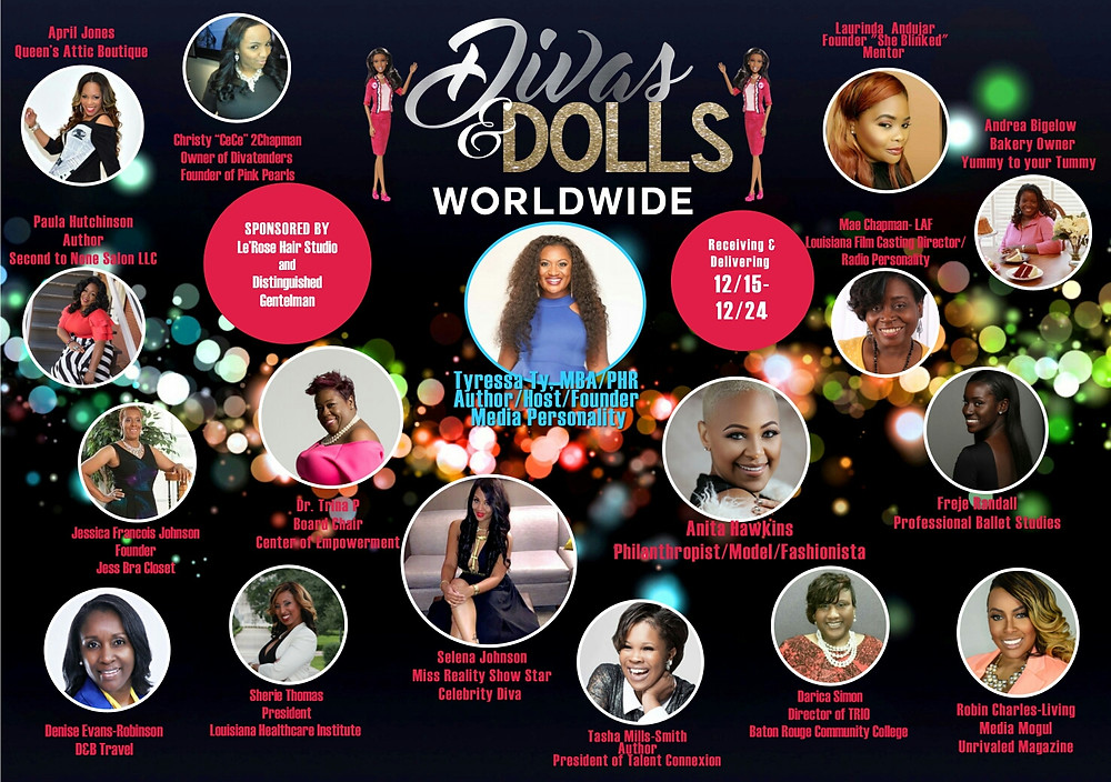 Divas.  Dolls.  Making a difference during the holidays and beyond.