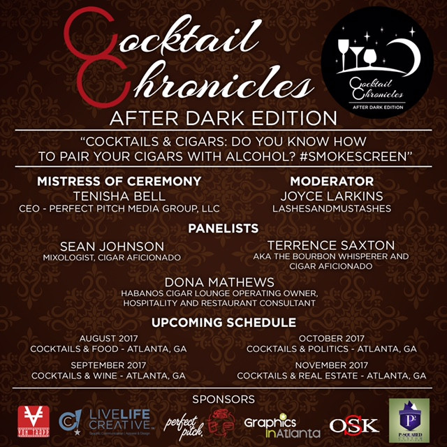 """The """"after-dark"""" series via Cocktail Chronicles comes to Atlanta on Tuesday, July 18, 2017."""