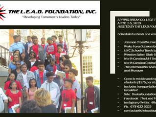 Still leading.  The LEAD Foundation's annual spring break college tour.