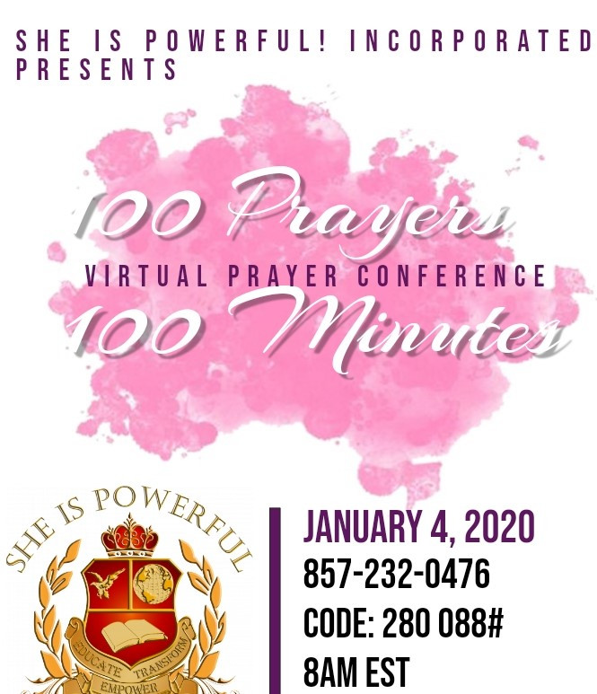 Dial in this Saturday at 8am EST.  The power of prayer and purpose can lead to positive results.
