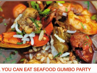 All you can eat gumbo?  Let's go!