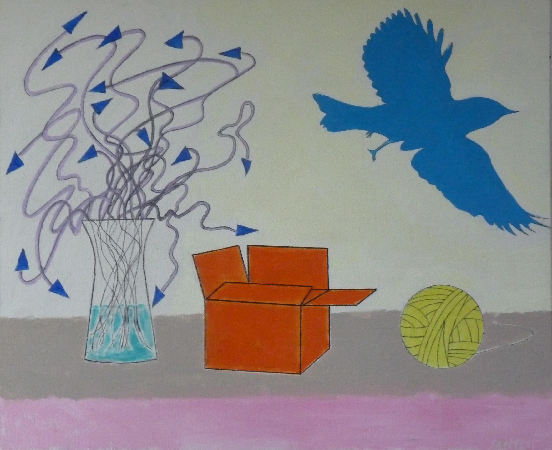 Still Life and Blue Bird