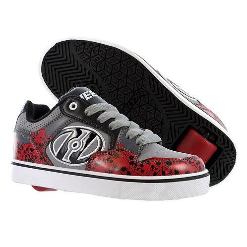 Heelys Motion Plus - Grey / Charcoal / Black / Red Skulls