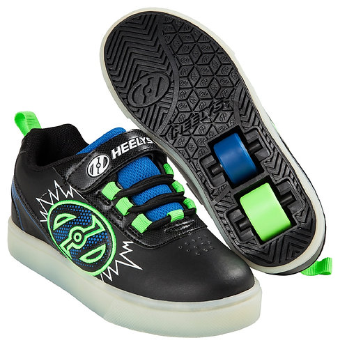 Heelys Pow X2 Lighted - Black Blue Green Pow