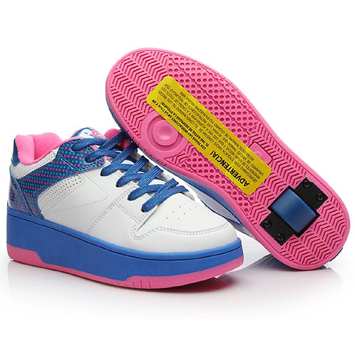 Heelys Pop Push - White Blue Neon Pink