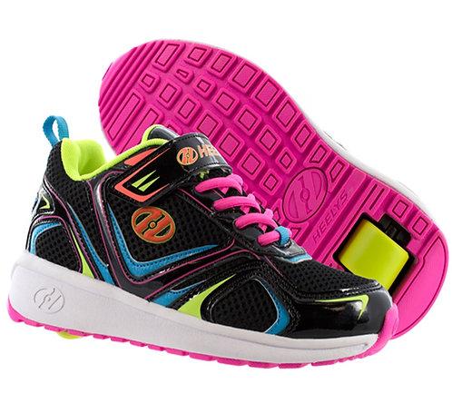 Heelys Rise girls shoes - Black Neon Multi