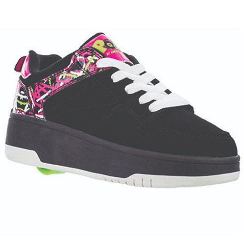Heelys Pop Push - Black Hot Pink White