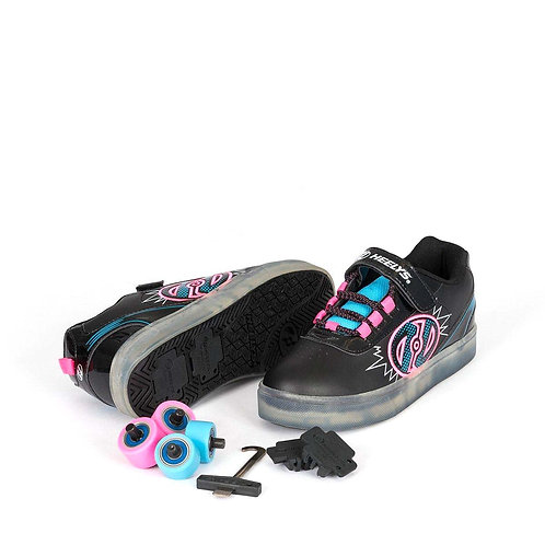Heelys Pow X2 Lighted Girls - Black Pink