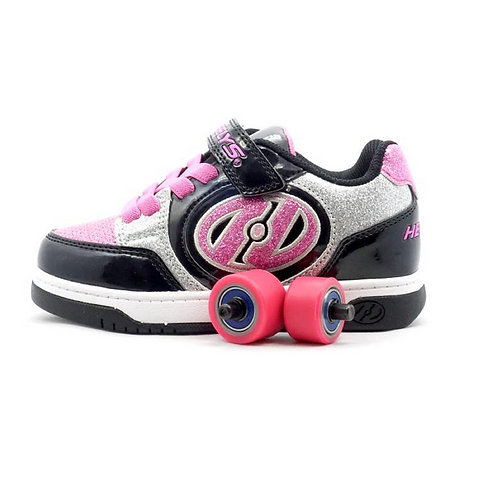 Heelys Girls' Plus X2 Skate Shoes - Black/Silver/Pink
