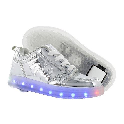 Heelys Light Up Premium 1 Lo - Silver Chrome LED