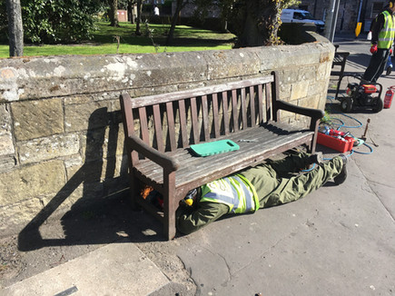 Removing a bench for repair and maintenance