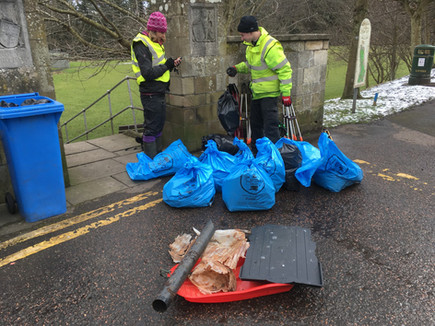Bags of rubbish from cleanup